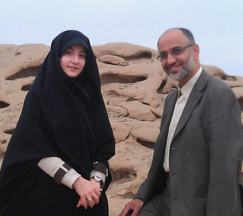 Zainab KHazali with her father Dr. Mehdi Khazali